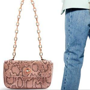 Topshop Cyprus Snakeskin Shoulder Bag
